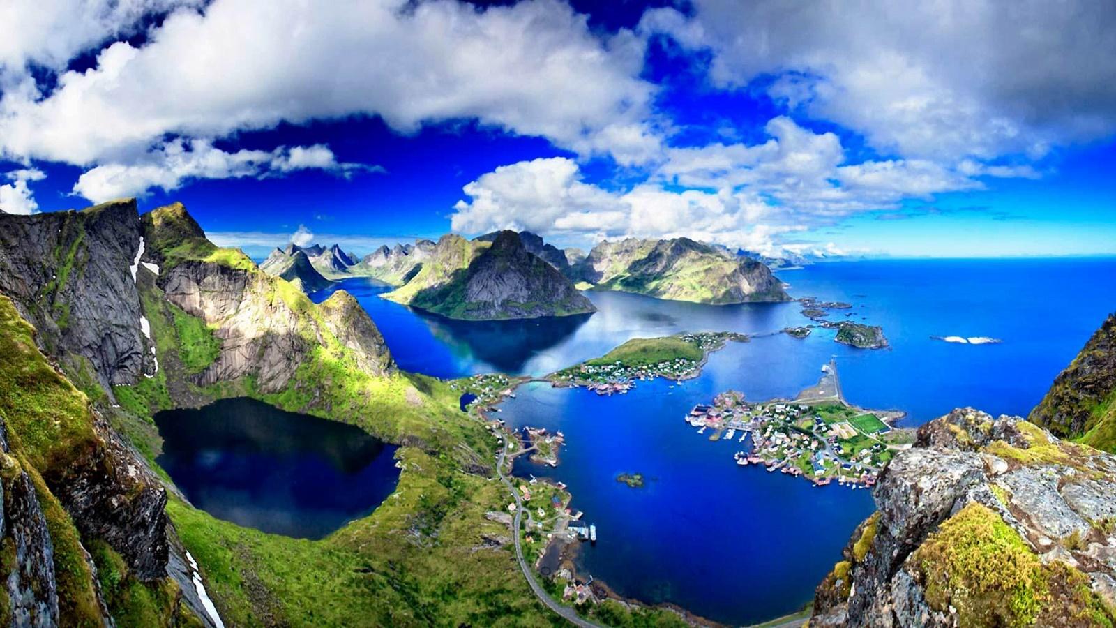 Rewallpaper Lofoten Islands Amazing Panorama Norway Hd