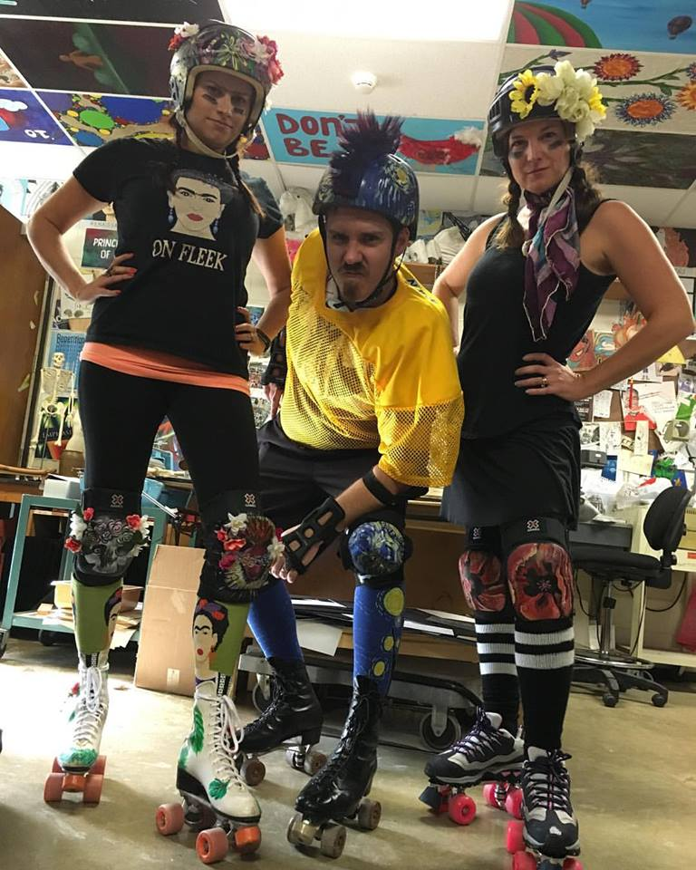 halloween tuesday october 31st we ask the schools most creative to participate with creative costumes halloween 2016 cg art roller derby team