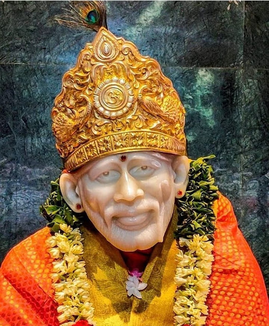 Golden Mukut wear sai baba  images