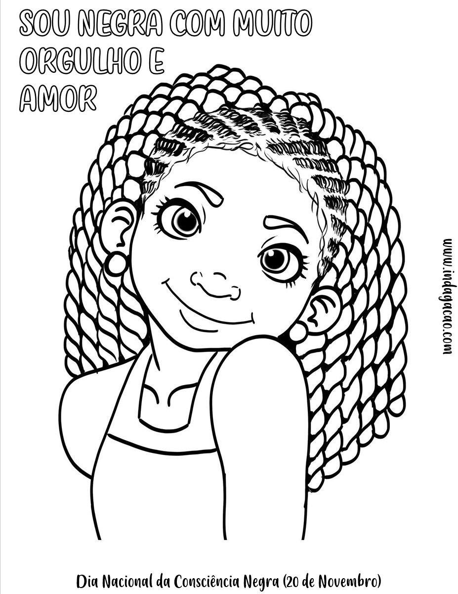 Desenhos Consciência Negra (20 de novembro) para colorir