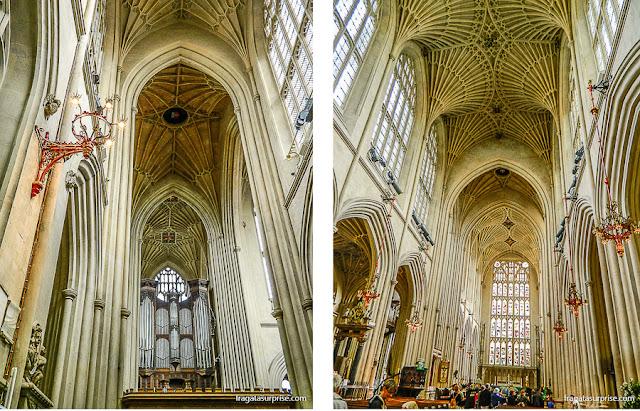 Interior da Abadia de Bath, Inglaterra
