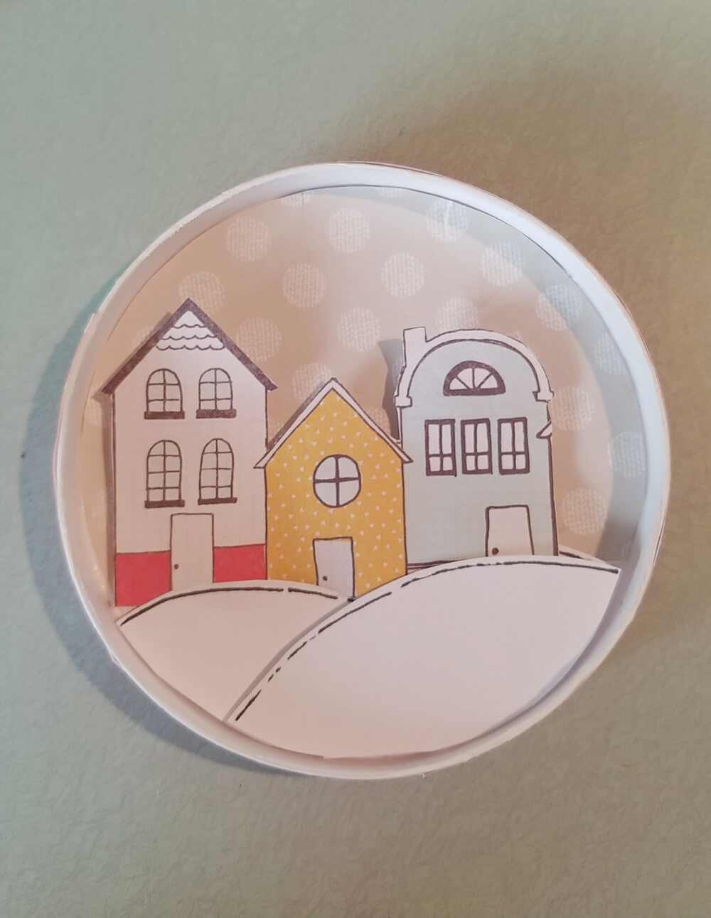 Snow Globe Ornaments From Recycled Ice Cream Lids!