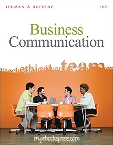 Business Communication Pdf Book 16e by Lehman and Dufrene