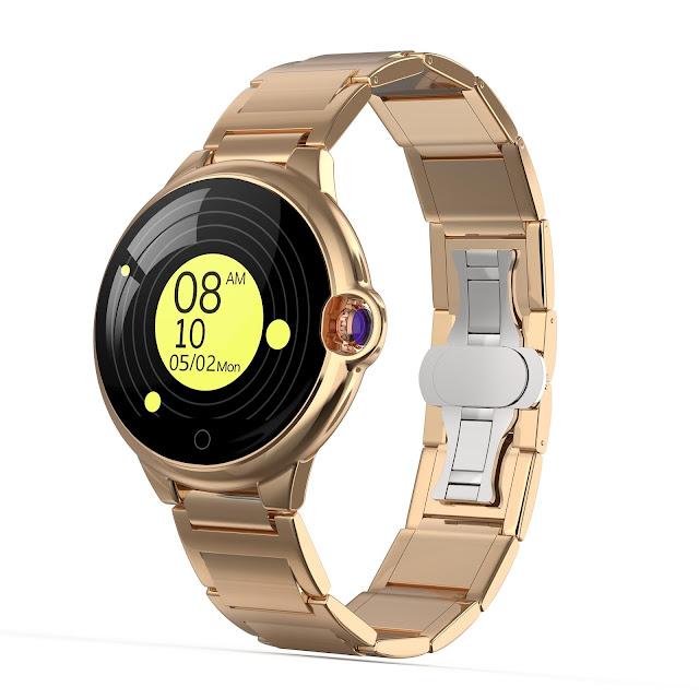 Bakeey DR88 Sapphire Glass Screen Ultra-thin Body Heart Rate Sleep WhatsApp Reminder 45Days Standby Smart Watch