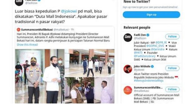 Fadli Zon Nobatkan Jokowi 'Duta Mal Indonesia'