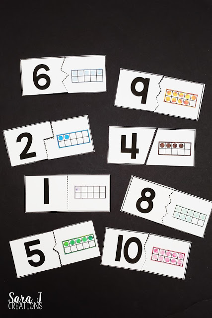 Download these FREE ten frame counting puzzles. Perfect for preschoolers learning to count and kindergartners learning to subitize.