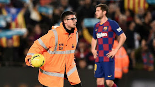 Barca fined 1500 euros & given stadium closure warning after Clasico disturbance