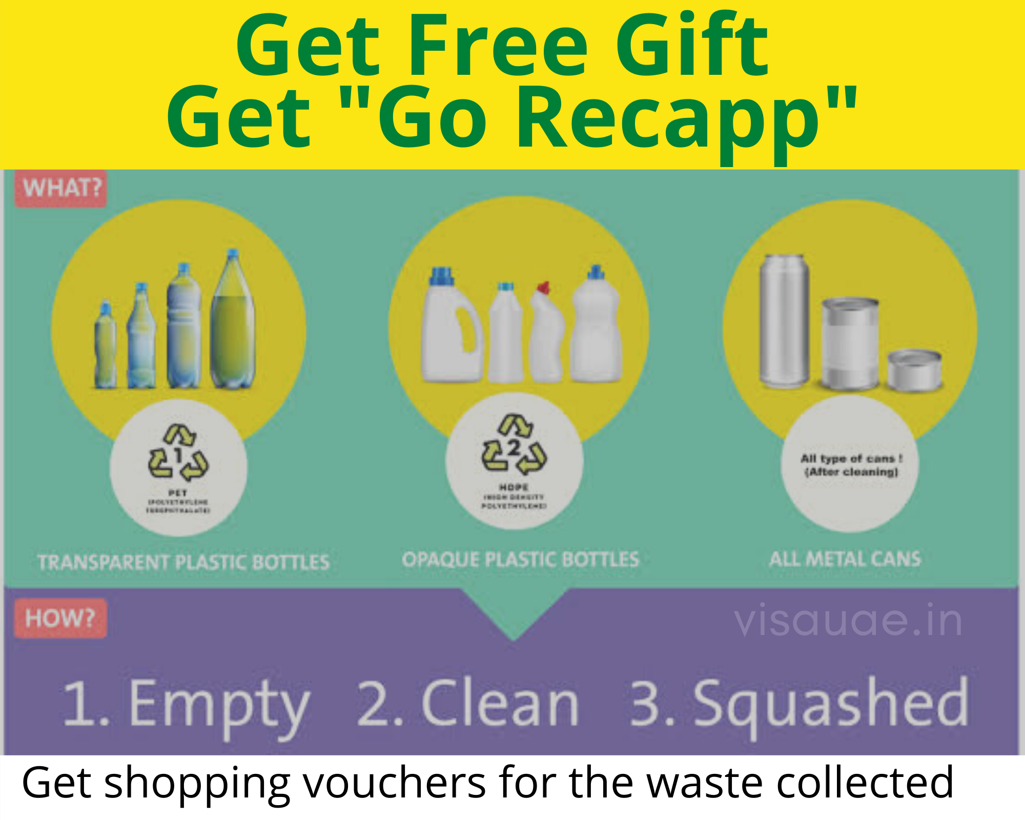 Free gifts with Go Recapp veolia uae campaign