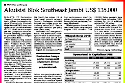 Acquisition of the Southeast Jambi Block US $ 135,000