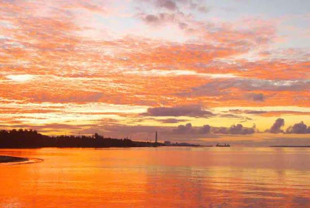 Kin Town, Okinawa, power-plant, sunrise