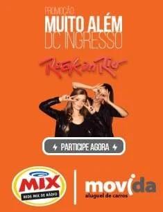 Cadastrar Promoção Rádio MIX e Movida Par Ingressos Rock in Rio 2019