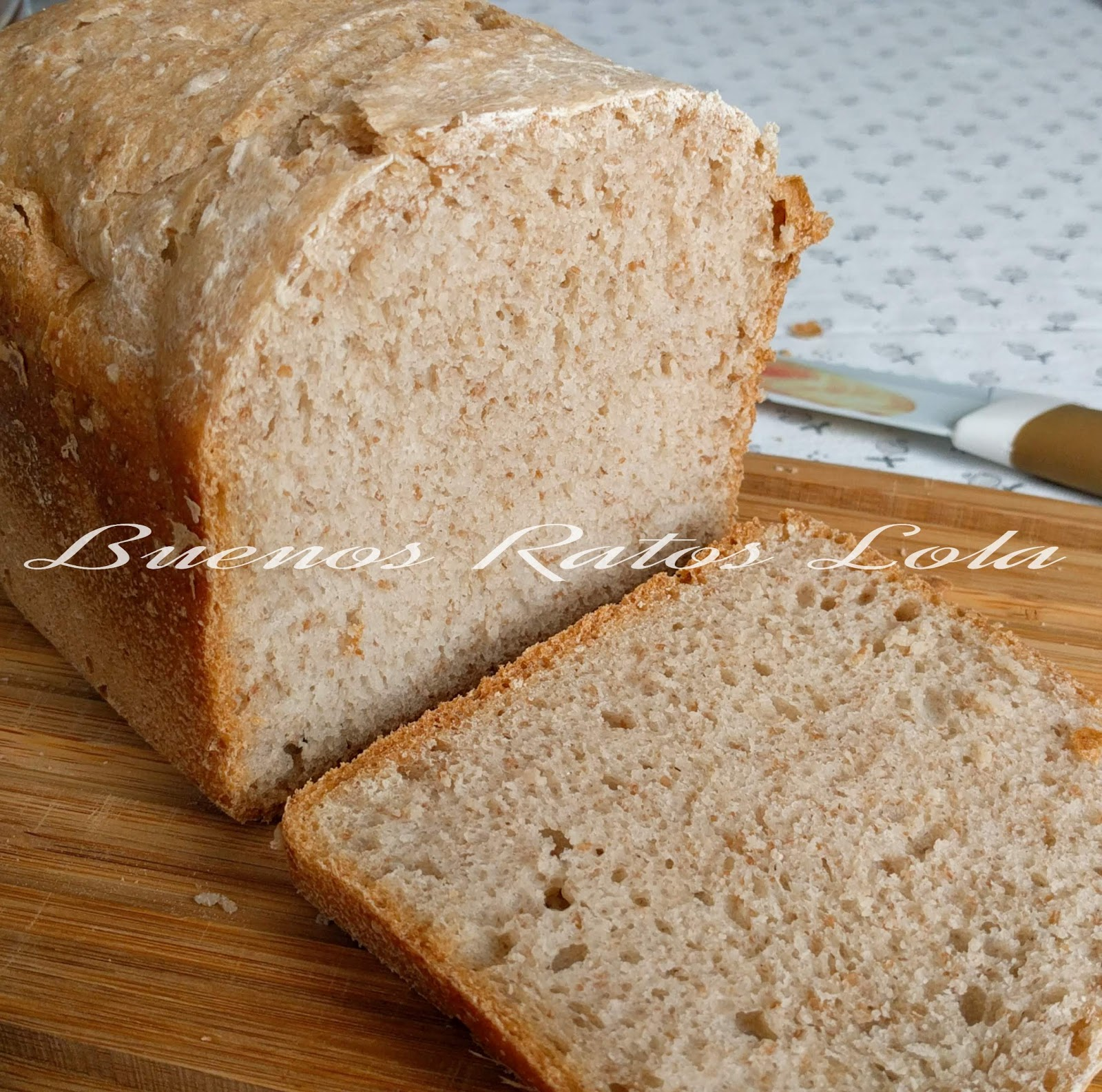Pan harina trigo integral panificadora
