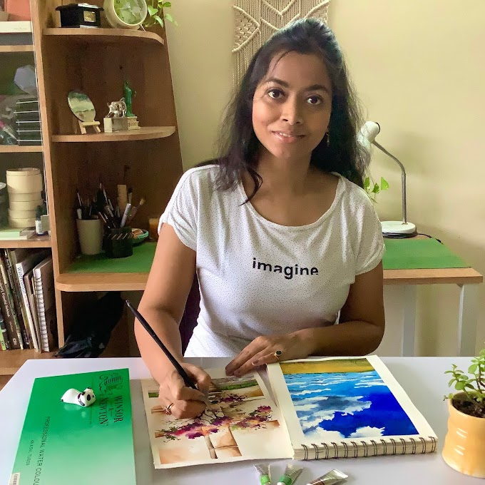 """Dhritikana Nath - My Journey Of Becoming A Painter To An Artist Is Still Going On But What I'm Always Confident About Is One Thing """"Sky Is The Limit"""" If You Work Hard (Artist & Illustrator, India)"""