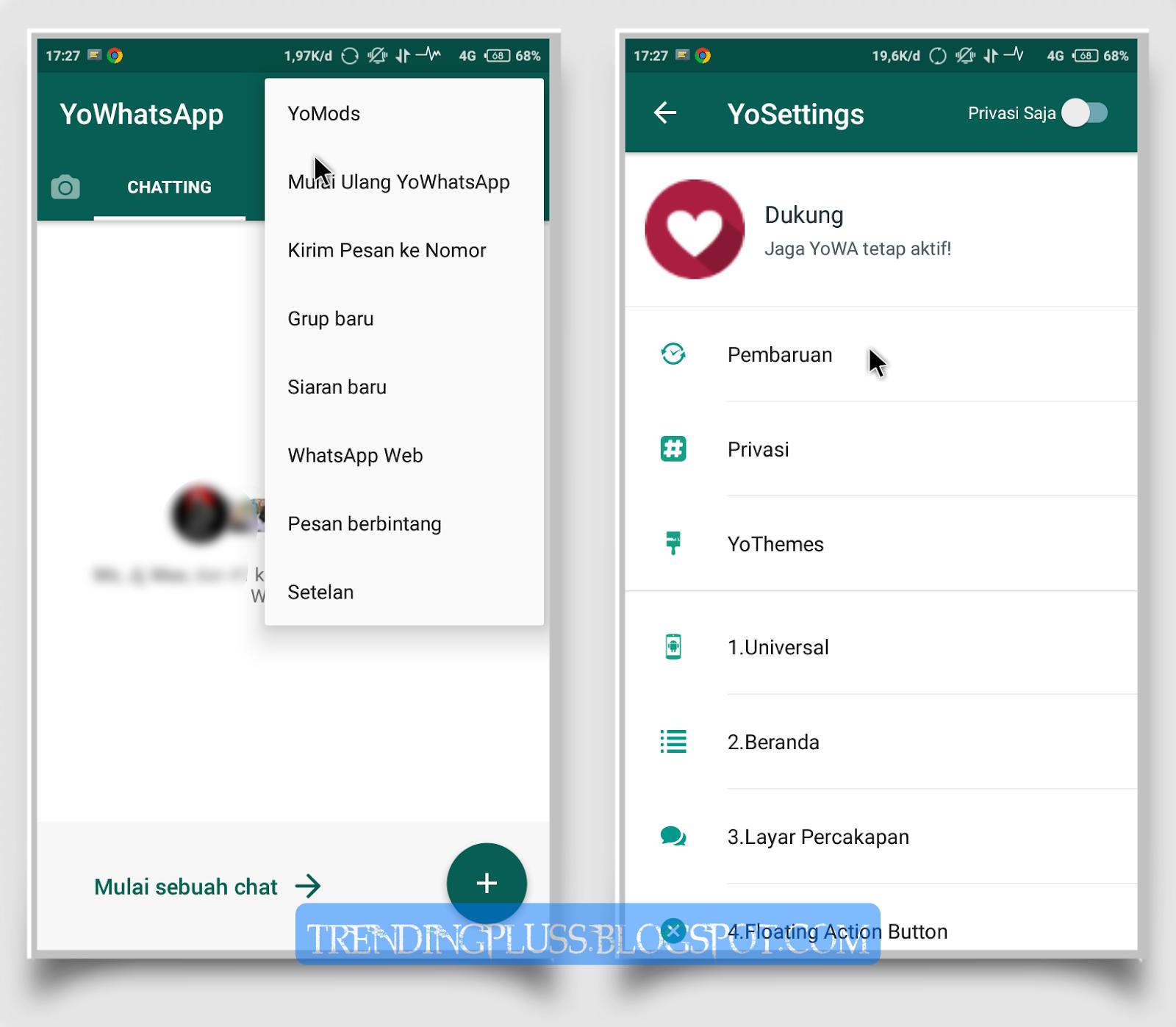Download Dan Juga Cara Memperbarui YoWhatsApp Ke V7.70 Apk