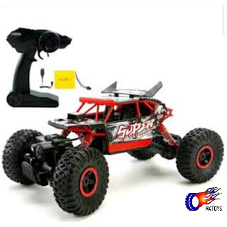 RC MOBIL OFFROAD CLIMBING CAR LEADER SCALE 1:18 4WD 2.4Ghz HITAM