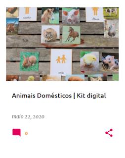 kit digital gratuito sobre o tema dos animais domésticos