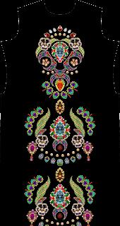 Suit Kurtis Textile Design