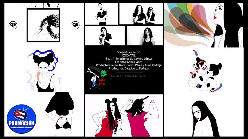 COCK-TAIL - ¨Cuando es amor¨ - Videoclip / Dibujo Animado - Director: Dagoberto Pedraja . Portal Del Vídeo Clip Cubano. Música cubana. Pop Rock. Cuba.