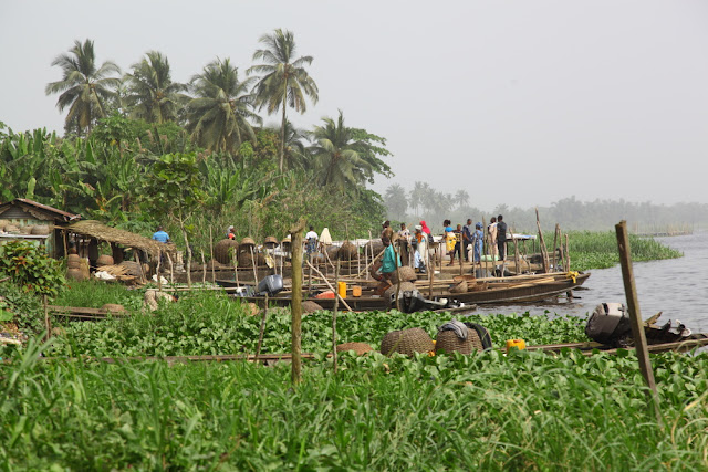 Epe fish market by the lagoon