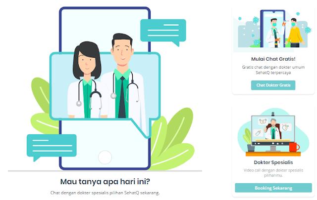 menu chat dokter, konsultasi kepada dokter jadi lebih mudah