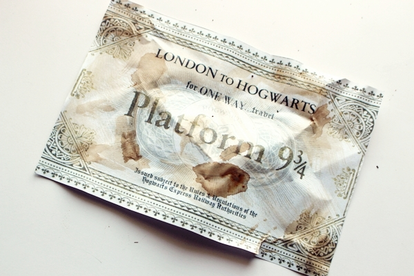 Harry Potter billete tren Hogwarts DIY