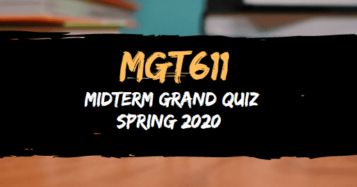MGT611 MIDTERM GRAND QUIZ