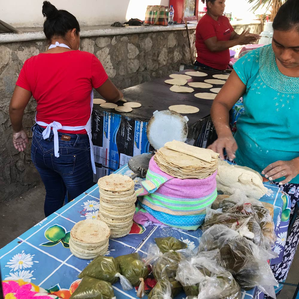 Fresh tortillas at Benito Juarez Market Puerto Escondido
