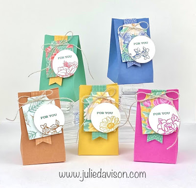 Stampin' Up! Four Season Floral 2-4-6 Treat Boxes ~ VIDEO ~ www.juliedavison.com #stampinup #onesheetwonder #osw