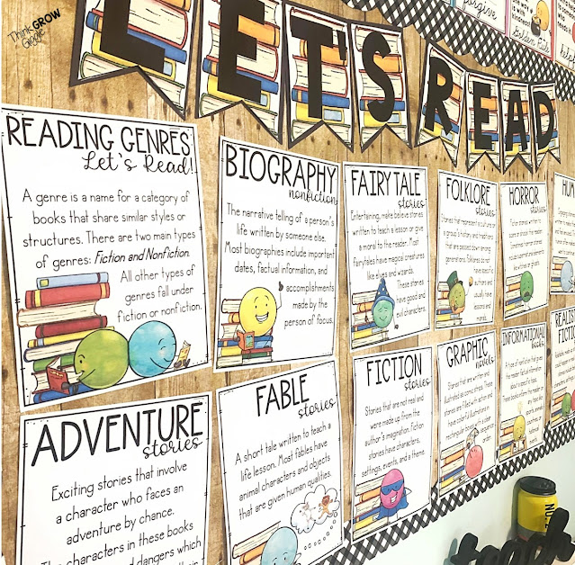 classroom library decor and bulletin board ideas