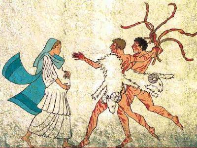 representacion antigua de las lupercalias