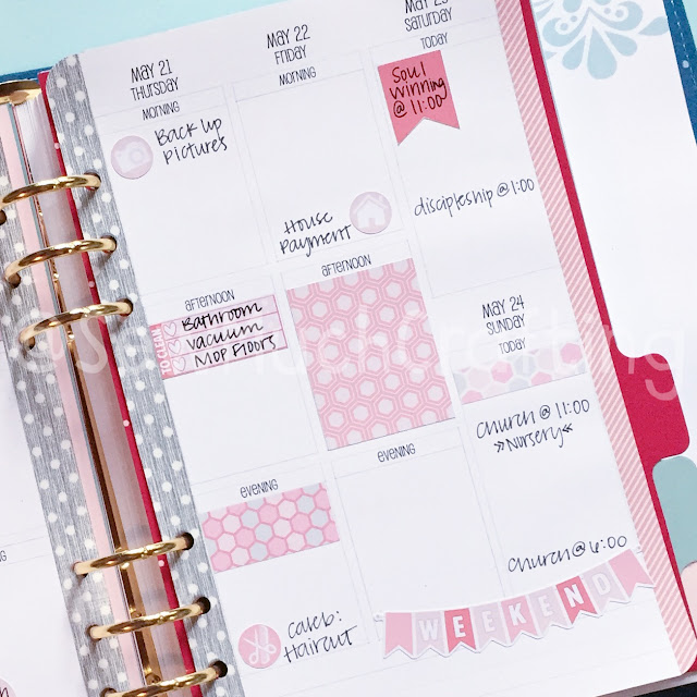 Get organized with these Vertical Week on Two Page planner inserts from Sew Much Crafting!