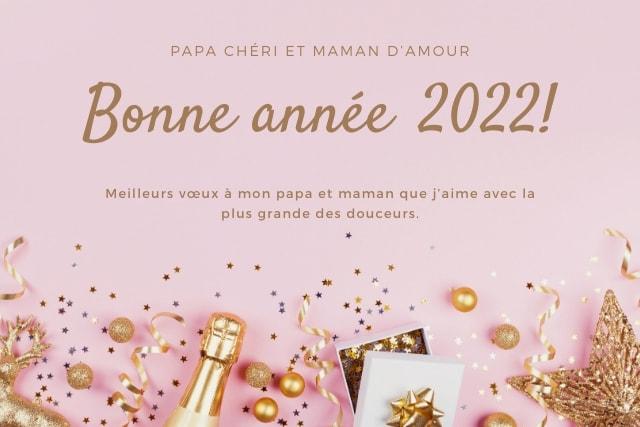 Messages bonne année 2022 pour maman et papa