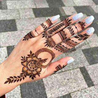 Mehandi Design Arabic Back Hand