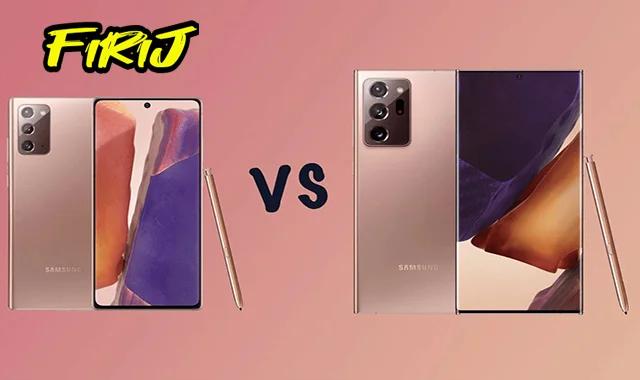 Quelle est la différence entre Samsung Galaxy Note 20 Ultra et le Galaxy Note 20