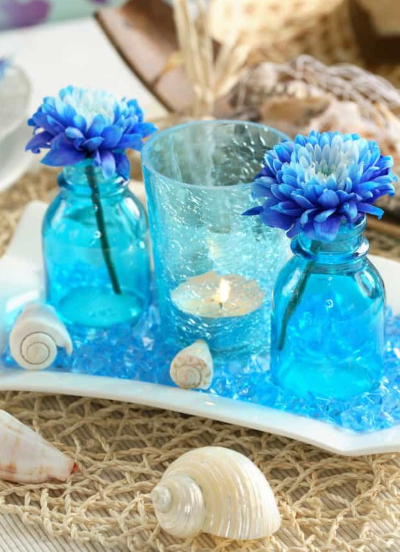 Blue Glass Candle Holder Ideas
