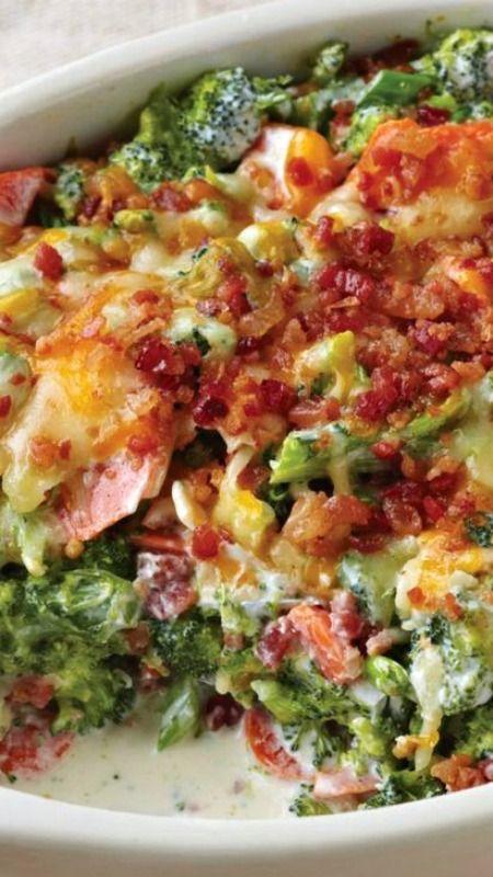 Creamy Broccoli-Bacon Bake