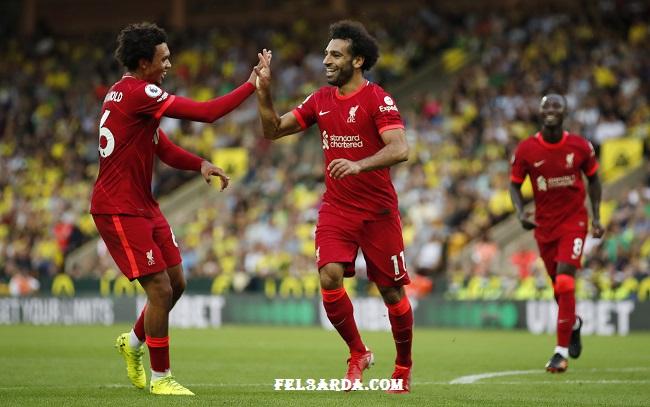 محمد صلاح يقود ليفربول لتحقيق الفوز الأول في الدوري الإنجليزي علي نوريتش سيتي
