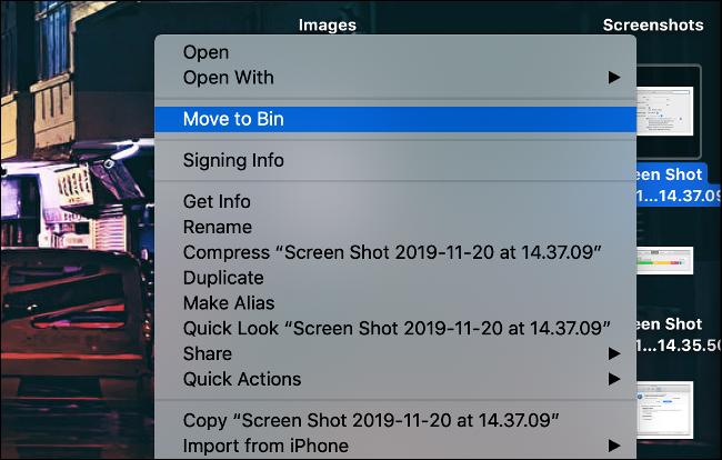حذف لقطات الشاشة من Mac Desktop لتحسين الأداء