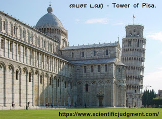பைசா டவர் - Tower of Pisa.