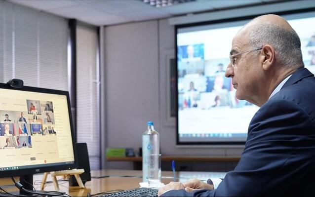 Δένδιας στη διάσκεψη χωρών MED7: Οι κυρώσεις προς την Τουρκία θα πρέπει να παραμείνουν στο τραπέζι