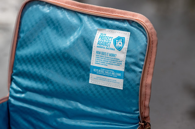 Inside of lunch bag showing Blue IQ lining