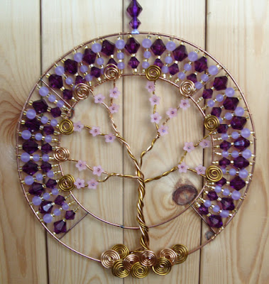 purple, lilac, tree of life, decoration, home, decor