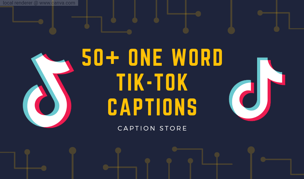 one word captions, one word tiktok captions