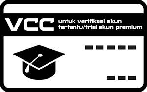 Jual VCC Untuk Verifikasi Akun Tertentu / Trial Akun Premium di Situs Tertentu