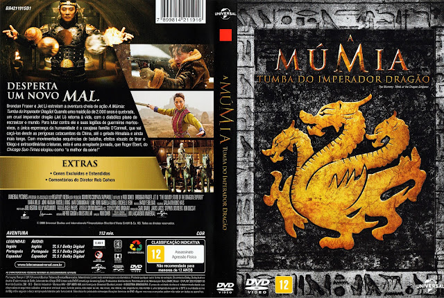 Capa DVD A Múmia: Tumba do Imperador Dragão