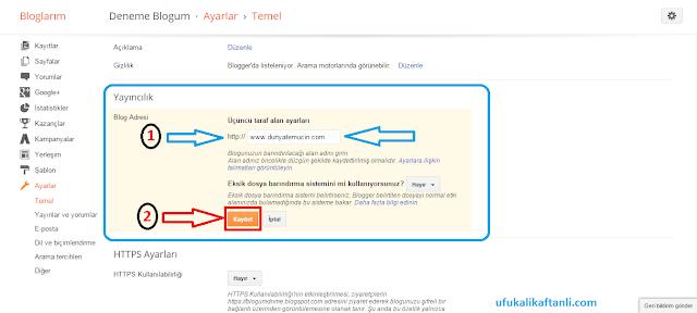 Blogger Domain İşlemleri