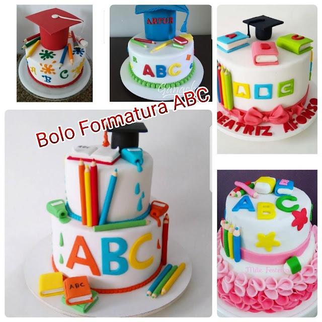 Modelos de Bolos para Formatura ABC