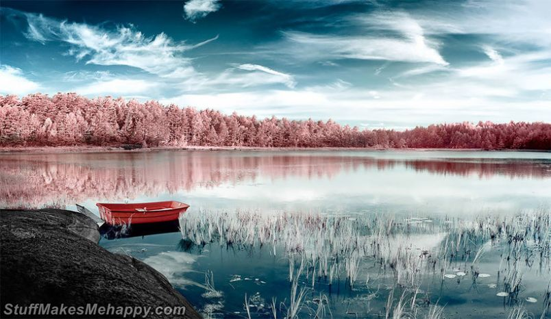 The Unusual Mystery of Norway in Infrared Images of Yann Philippe
