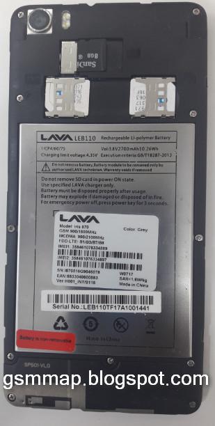 Lava Iris 870 INT/S116 Firmware MT6735 6 0 Fix Flash After Dead 100