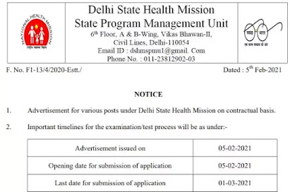 Apply For 279 Posts In Delhi State Health Mission